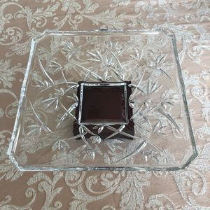 Waterford Crystal bowl w/wood stand